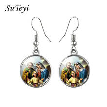 Jewelry Virgin Mary Earrings Our Lady of Guadalupe Earrings