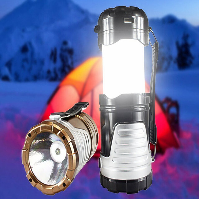 Lightme Solar Lantern Portable LED Lamp Outdoor Collapsible Rechargeable Tent Light for Hiking Camping Outdoor Lighting Lantern