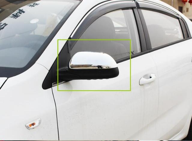 Higher star ABS Chrome 2pcs car Door Mirror decoration cover,rearview protection Cover for KIA Rio/K2 2011-2019