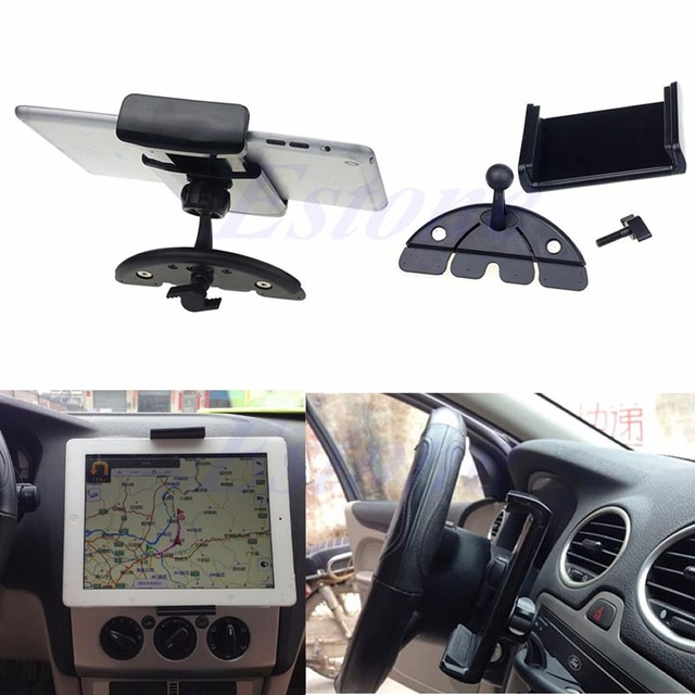 Auto Car CD Mount Tablet PC Cradle Holder Stand For iPad 2 3 4 5 Air Galaxy Tab