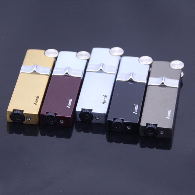 Metal Drawing Electroplate Windproof Smoking Lighter Top Qualilty Flame Gas Lighter Men Cigarette Lighter Gifts 24