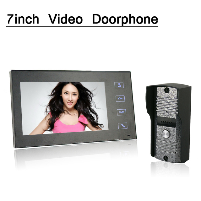 7inch touch screen Color Monitor Video Doorphone Night Vision Camera intercom System
