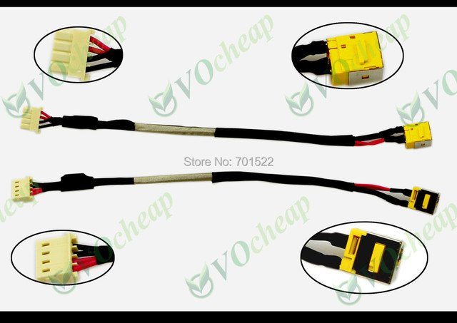Genuine New notebook Laptop DC power jack for Acer Aspire 6530 6930 6930G 6930Z Charging Port Socket Connector with cable PJ121