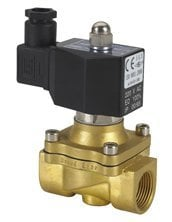 """Free Shipping 5PCS DIN Coil Brass Water Oil Pneumatic Solenoid Valve, 2 way, 1"""" AC110V"""