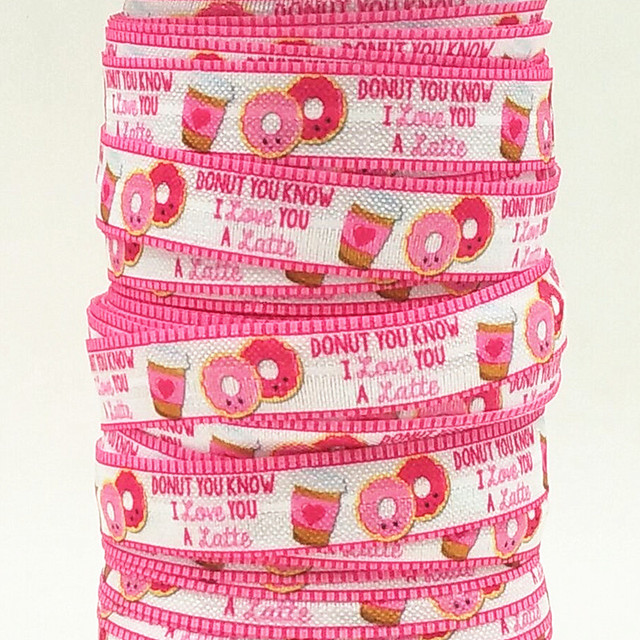 Q&N ribbon wholesale/OEM 5/8inch 15mm 160301002 latte cookie folded over elastic FOE for hair tie free shipping