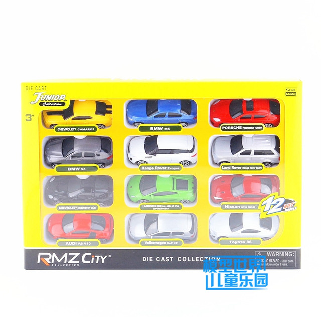 RMZ City/1:64 Scale/Diecast Educational Model/12 pcs Super Sport Toy Car Set/Collection/Festival Gift For Children/Small