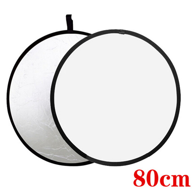 "free bag 32"" 2-in-1 Light Mulit Collapsible white and Silver Photography Reflector 80cm Photo accessories for flash light soft"