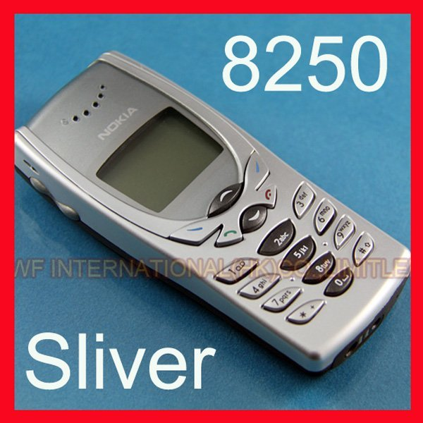 Refurbished Nokia 8250 Mobile Cell Phone 2G GSM 900/1800 Unlocked 8250 Phone & Sliver & one year warranty