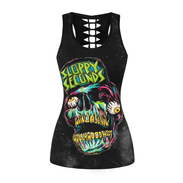 New Fashion Women Tank Top Sexy Hollow Out Sleeveless Tops Streetwear Black Tank Tops Women Clothes