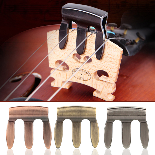 Violin Mute Effective 3 Color Musical Instruments Silencer Simple Zinc Alloy Gifts Durable Metal Mute Convenient Sound Hole