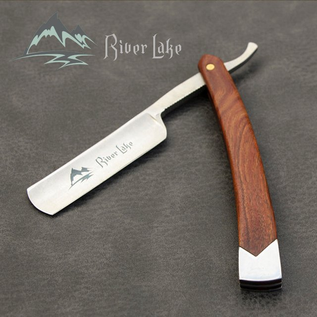 River Lake Straight Razor Folding Shaving Knife Professional Men Manual Beard Shaver Stainless Steel Straight Edge Barber #