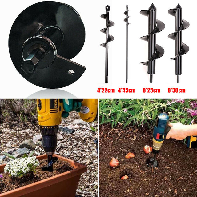 High Speed Steel Planting Auger Spiral Mining Tool Electric Drill Garden Practical Cutting Hole Saw Electrical Accessories