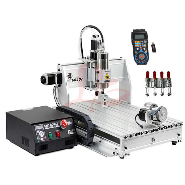 USB CNC 6040 Router 4 Axis Engraving Machine 2.2KW Spindle for Metal Wood Cutting PCB Milling Machine