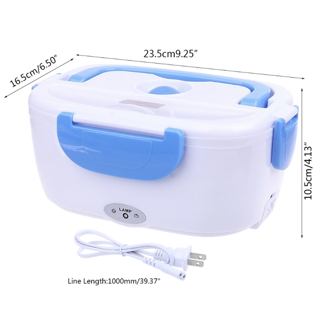 2019 New Portable Electric Heated Food Warmer Box Container Lunch Meal Lunchbox 110V US
