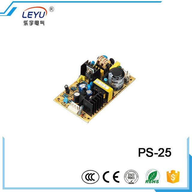 CE RoHS authentication Open Frame LED Power 25w  PS-25 series output 5V 12V 15V 24V switching power supply