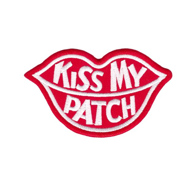 free shipping CUTE PRETTY KISS MY PATCH LIP LOGO Embroidered Iron on Patch