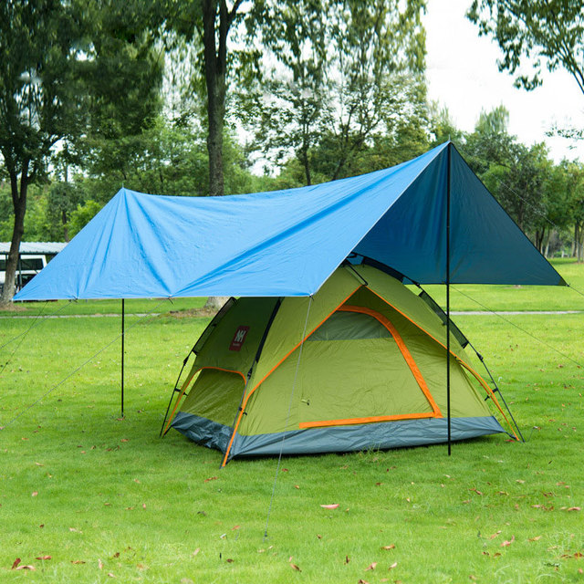 2color Shade Sail Awning Shade Canopy Gazebo Durable Portable Camp Moisture Proof