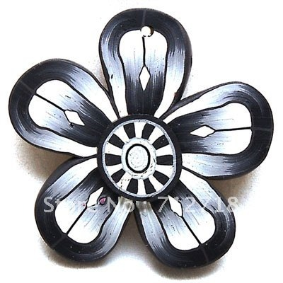 Miasol 8*48MM Pure Handmade Polymer Clay Flower Pendants Big Sun Flower Pendant For Diy Jewelry Making
