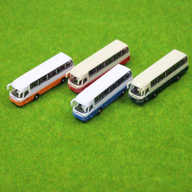 BS15001 4pcs Model Cars Buses 1:150 N Scale Railway Layout Plastic NEW Free Shipping