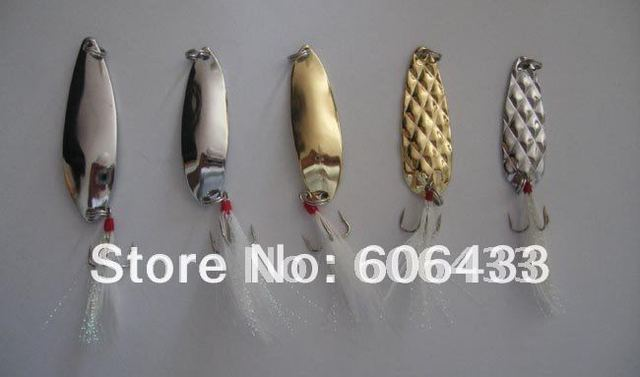 5PCS Fishing Spoon lures Hook Spinner baits 5g~12g
