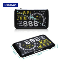 Excelvan Clearing Stock Car HUD OBD2 II Head Up Display Overspeed Warning System Projector Windshield Auto Electronic Alarm