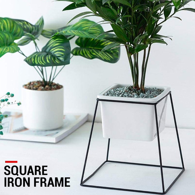 Flowerpot Frame Flower Stand Flower Pot Rack Display Stand Planting Beautiful Square Shape Creative