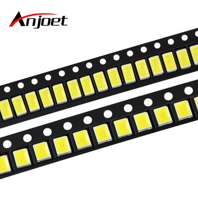 Anjoet 100Pcs 100% Original Epistar SMD 5730 / 2835 Chip LED lamp 40-55 LM LEDs Diode light For LED Strip Spotlight, indoor bulb