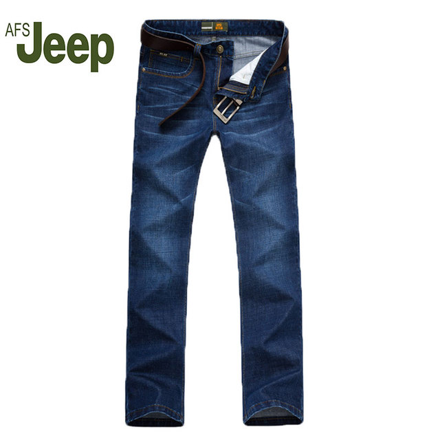 2016 Spring Summer AFS JEEP / Battlefield Jeep authentic thin section stretch loose straight jeans trousers men's business 65