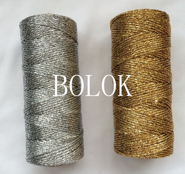 10pcs/Lot Gift Packing Foil Metallic Gold Silver Baker Twine 110yard/spool for Party Supply DIY Decorations