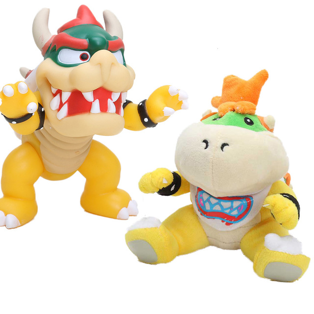 New mario figure Koopa Bowser Plush Toy Super Mario Bros Stuffed Doll Soft Baby Toy Gift