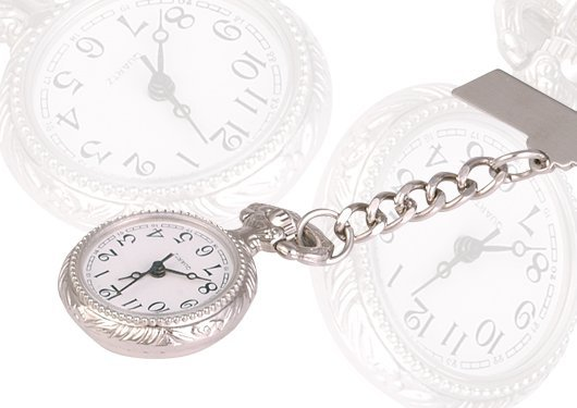 Beautiful Women Silver-tone Nurses Brooch Quartz Pocket Watch