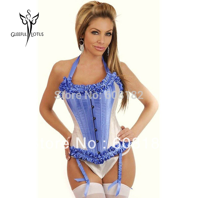 High quality  Women Clothing Steel Bone Corset  20 Bones sexy lingerie  bule pink yellow  0831