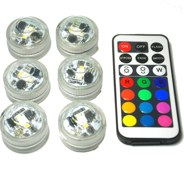 Bright CR2032 Battery Powered Waterproof Mini LED Candle Lights with Remote Controller for Wedding Party Events Vase Lighting