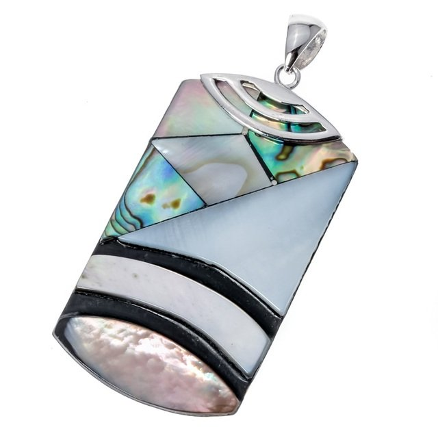 925 Sterling Silver Abalone Shell Necklace Pendant W Chain Birthday Jewelry Gifts for Women Wife Her Girlfriend Dropshipping