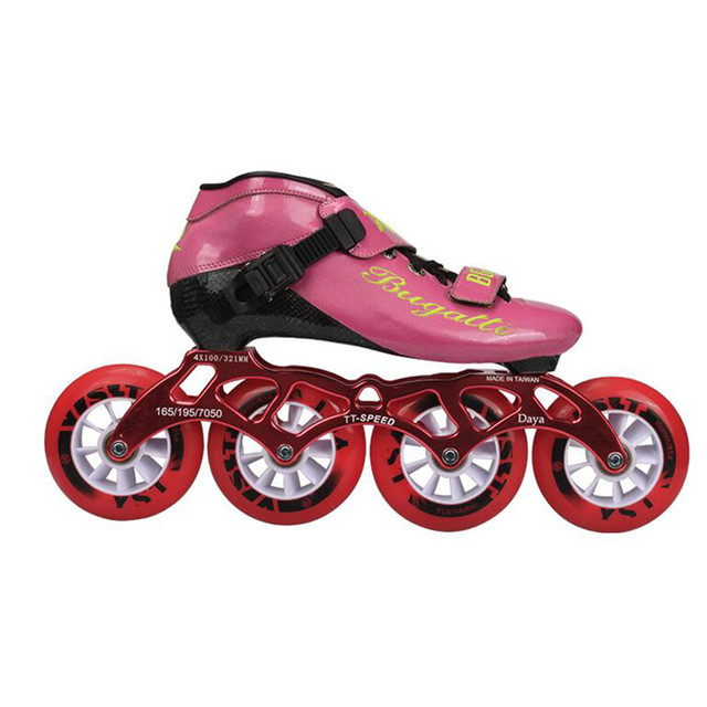Japy Speed Inline Skates Carbon Fiber Professional 4*100/110mm Competition 4 Wheels Racing Skating Patines Similar Powerslide 39