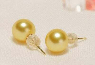 free shipping luxury Noble jewelry Genuine charming pair OF AAA++ 10-11mm south sea pearl earring
