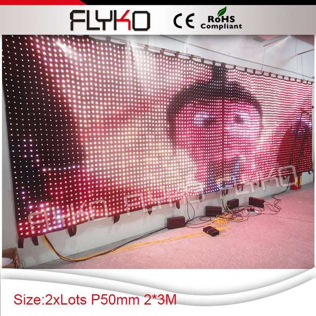 Free shipping 2016 high definition flexiable indoor outdoor china soft led video led curtain