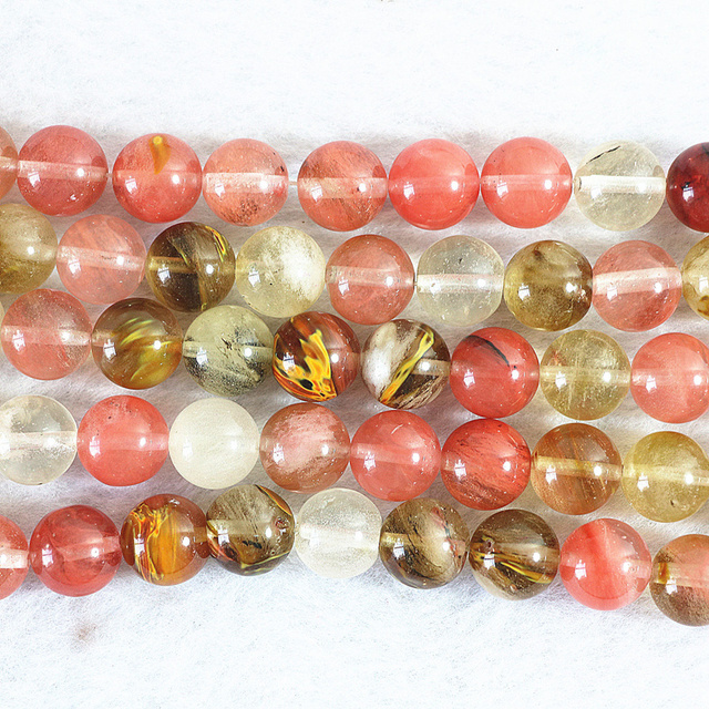 2 type multicolor faux watermelon crystal stone round faceted/round 4-14mm jewelry finding loose beads 15inch B488