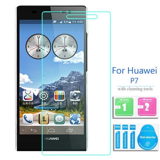 2PCS For Huawei Ascend P7 Tempered Glass Screen Protector 2.5 9h Safety Protective Film on P7 P7-L00 P7-L05 P7-L11 P 7 4G Lte