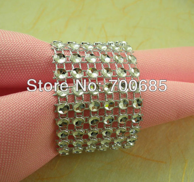 acrylic with crystal napkin ring clear, decoration wholesale napkin holder