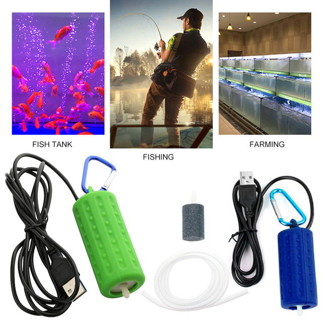 USB Silicone Ultra Silent Air Pump Filter Material Box Oxygen Air Pump Durable Aquarium Accessories Oxygenating Pump