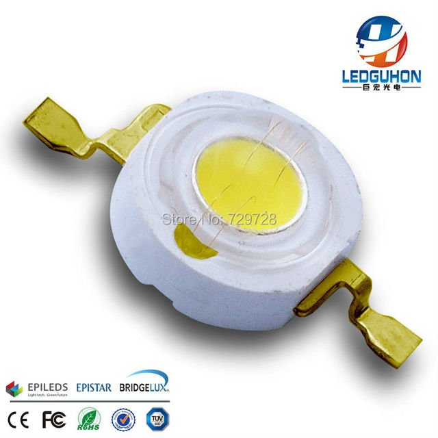sell Epileds 3w cold white high power led diode with Gold-plated frame