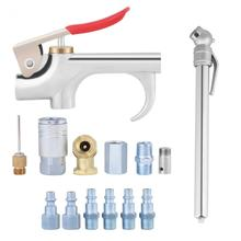 14pcs/set Air Compressor Tool Kit Tire Chuck Hose Connector Blow Dust Removing Pneumatic Nozzle Accessories Hand Tools Set