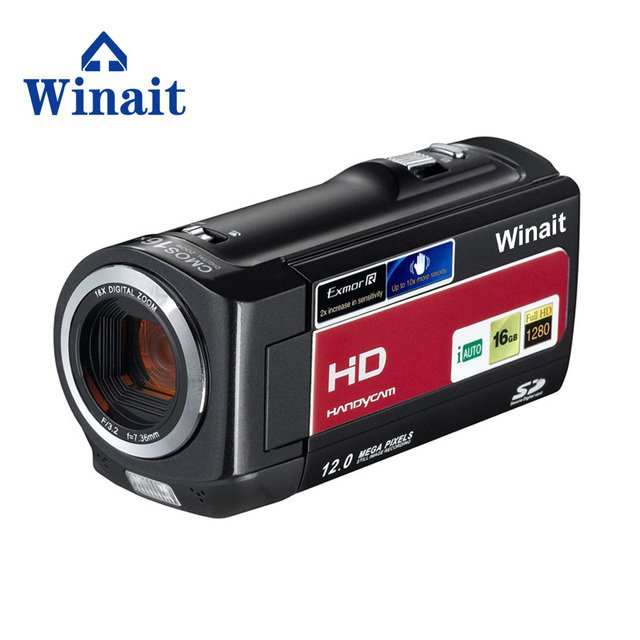WINAIT hot sell HD 720P HDV-777 digital video camera with max 16mp free shipping