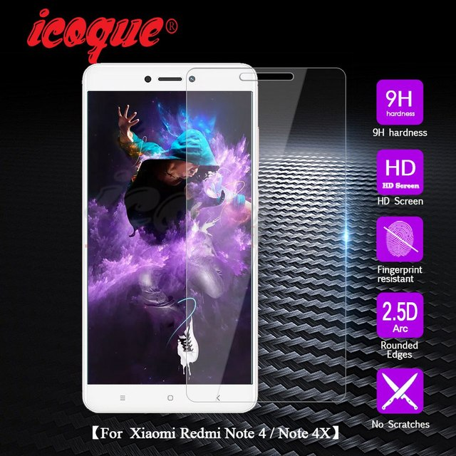 Icoque for Screen Protector Xiaomi Redmi Note 4 Glass Tempered 9H 2.5D Glass Film Protect for Tempered Glass Xiaomi Redmi Note 4