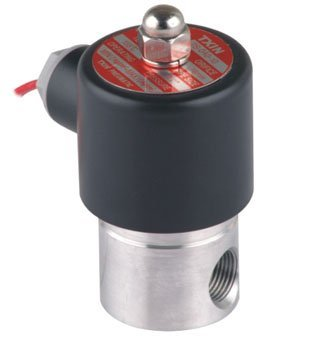 """Free Shipping 5PCS/Lot DC12V 3/8"""" 4mm Stainless Steel Normally Closed 2Way Solenoid Valve VITON Oil Acid DC24V"""