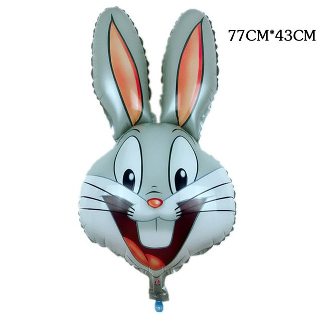 New Children's Toys Rabbit Head Foil Balloons Animal Cartoon Balloons Birthday Party Decoration Balloon wholesale