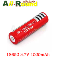 Big Discount,500PCS/LOT 18650 3.7V Rechargeable Battery 4000mAh for LED Flashlight,Free Shipping
