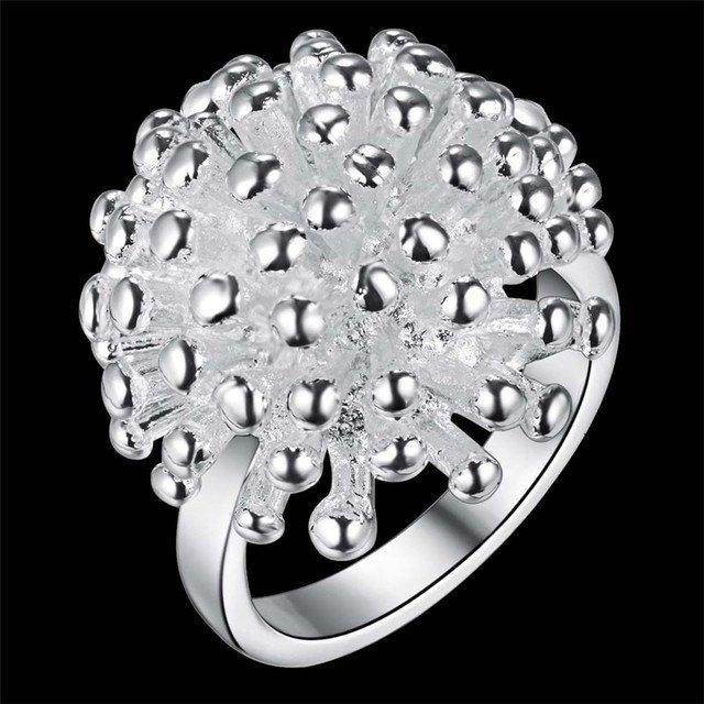 Hot Factory wholesale New R001 wholesale color silver jewelry fashion noble Women classic personality Ring
