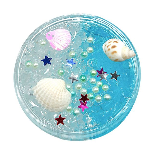 Slime toys Clay Vent Toys Mud Funny Cloud Slime Decompression Crystal Mud Slime Play House Creative - Transparent